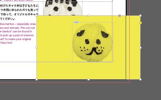 元のInDesignファイル内の画像には白フチなし。写真の形に切り抜かれた背景透過の画像